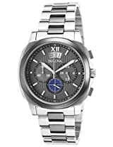 Bulova Classic Analog Grey Dial Men's Watch - 98B233