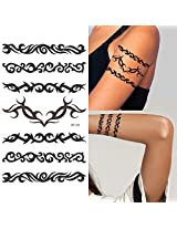 Supperb Temporary Tattoos Art Sticker Tribal Swirls Temporary Tattoo St 29