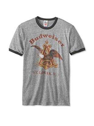 Junk Food Men's Budweiser Short Sleeve T-Shirt (Steel)