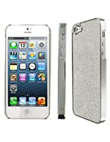 EMPIRE Apple iPhone 5 Case Cover Silver Glitter Stealth Hard Cover Case