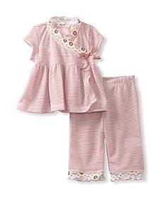 Jupon Baby Adele Kimono & Pants Set (Light Pink)