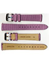 Invicta Genuine Ladies 16mm Purple Satin Ribbed Leather Watch Strap IS535