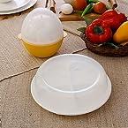 Trust Yellow Plastic 2-Pc Egg Boiler And Egg Poacher Set- TR 2