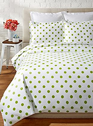 Mélange Home 400 Thread Count 100% Cotton Watercolor Dots Duvet Set