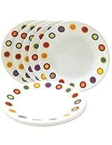 Corelle Dinner Plates - Hot Dots Corelle Quarter Plates - Set Of 6