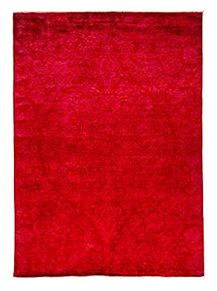 Darya Rugs Transitional Oriental Rug, Raspberry, 8' 6