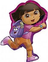 Dora Shaped Birthday Mylar Balloon