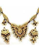 Peacock Design Meenakari Jadtar Diamond set