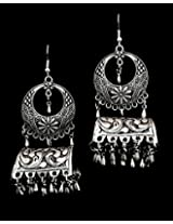 Under the Feather Silver Jhumka