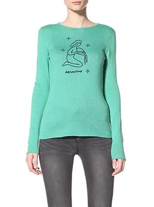 Acrobat Women's Aquarius Long Sleeve Crew Sweater (Lucky Charm/Navy)