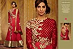Designer wear Red Colored Anarkali Suit