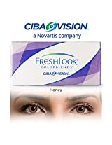 Ciba Vision Freshlook ColorBlends Honey Color Contact Lenses By Visions India 2 Lens Pack 0.00