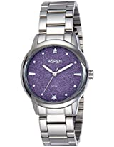 Aspen Analog Purple Dial Women's Watch - AP1950