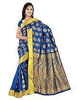 Kanchipuram Art Silk Saree-Royal Blue
