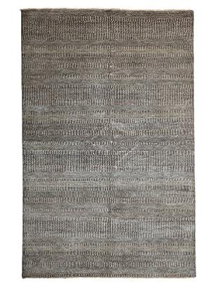 Darya Rugs Modern Oriental Rug, Grey, 6' x 9' 2
