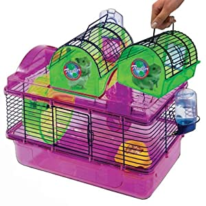 Penn-plax  Here & There & Everywhere Hamster Home & Traveler Cage  SAM450