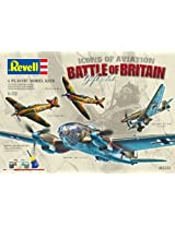 Revell Assembly Model Kit - Battle of Britain Gift Set - Icons of Aviation - 4 Plastic Model Planes Kits in 1:72 Scale
