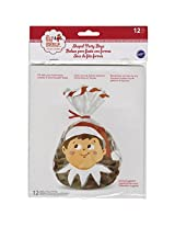 Wilton 1912-8551 12 Count Elf on The Shelf Shaped Party Bags