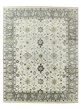 Bashian Rugs One-of-a-Kind Hand Knotted Indo-Oushak Rug, Ivory/Grey, 7' 9