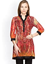 Panit Women's Georgette Kurta (PANI018_Multicolor_X-Large)