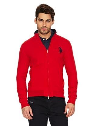 US Polo Assn Chaqueta Puños Canalé (Rojo)