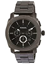Fossil Machine stopwatch Chronograph Analog Black Dial Men's Watch - FS4662