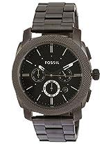 Fossil Machine stopwatch Chronograph Analog Black Dial Men's Watch - FS4662