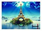 999Store Vinyl Unframed Home Decor Plastic Nature Eiffel Tower Large size Wall Design Paper like wall Poster ( Pvc Plastic Print, 92 cm x 61 cm)
