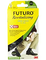 Futuro Revitalizing Men's Dress Socks, Black Medium, Moderate