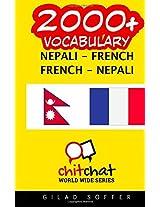 2000+ Nepali - French French - Nepali Vocabulary