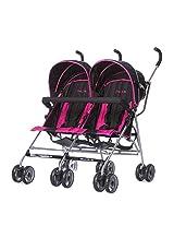 Dream On Me Twin Stroller, Dark Pink