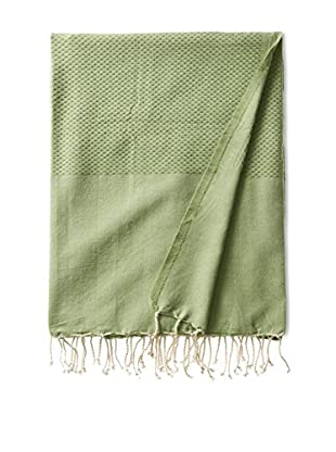 Fouta Bath Towel, Honeycomb Green