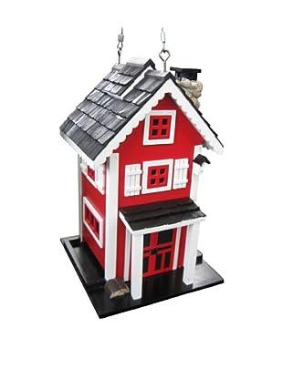 Home Bazaar Glen Ridge Bird Feeder, Red/White/Black