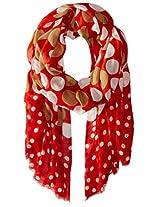 Saro Lifestyle Women's Dot Design Scarf, Rouge, One Size