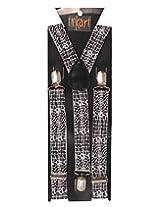 Tiekart Mens Y-Back Suspender (Sus210_Black)