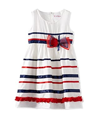 Bonny Billy Girl's Striped Party Dress with Bow