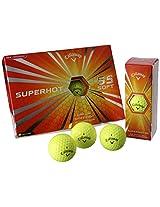 Callaway Superhot 55 Golf Balls, Yellow