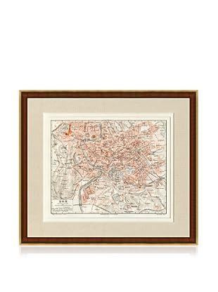 Antique Rome 1890's Map
