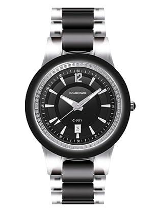 K&BROS 9180-1 / Reloj de Señora  con brazalete metálico negro