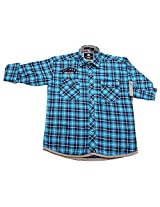 LITTLE MAN Cotton Boy's Shirt (LM3c1_8 , Blue, 8)