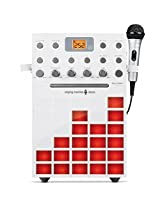 Singing Machine Sml388 W Cdg/Mp3 G All In One Karaoke Machine With Music Sychronizing Light Show (White) + Traditional Christmas Karaoke Cd+G Pack & Additional Mic