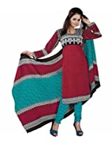 Sonal Trendz Maroon Color Cotton printed Dress Material Suit