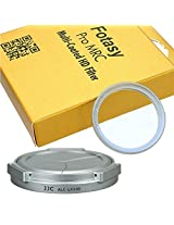 Fotasy LX100 UVS Auto Lens Cap and MRC HD Filter for Panasonic LUMIX DMC-LX100 Leica D-LUX Typ 109 (Silver)