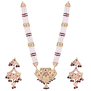 Smart Deals Jewellers Rani and White Gold Plated copper Amritsar Rani Haar For Women