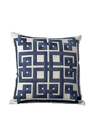 Surya Geometric Throw Pillow (Dark Denim)