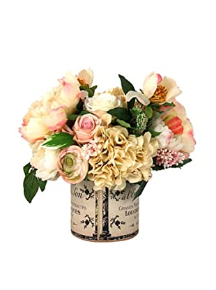 Creative Displays Cream Peony & Hydrangea in Label Pot