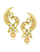 Kundan Pearl Earrings For Women Girls in Traditional Ethnic Gold Plated Earings By Meenaz J117
