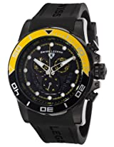 Avalanche Chronograph Black Silicone Strap & Dial Yellow Accents (21368-Bb-01-Yab)