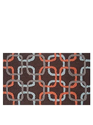Pop Accents Squared Rug (Sky/Orange/Brown)
