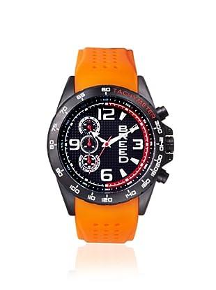 Breed Men's 4406 Touring Orange/Black Silicone Watch